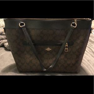 Large coach tote bag with zipper